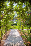 Romantic garden with love path Royalty Free Stock Photo