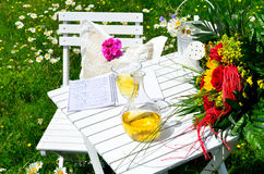 Romantic garden Picnic Stock Photos