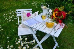 Romantic garden Picnic Royalty Free Stock Image