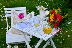 Romantic garden Picnic Royalty Free Stock Photography