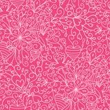 Romantic garden seamless pattern background Stock Image