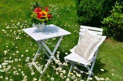 Romantic garden Stock Photos