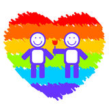 Romantic gay couple Royalty Free Stock Images