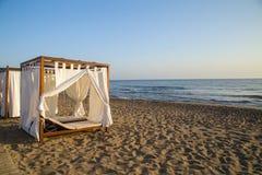 Romantic gazebo lounge at a tropical resort Royalty Free Stock Photography