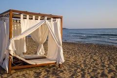 Romantic gazebo lounge at a tropical resort Stock Images