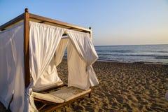 Romantic gazebo lounge at a tropical resort Royalty Free Stock Photo