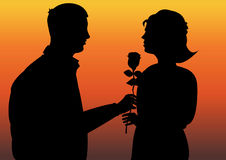 Romantic gesture Royalty Free Stock Photo