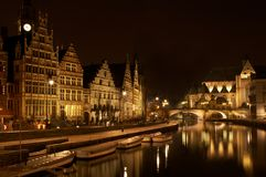 Romantic Ghent stock images