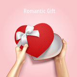 Romantic Gift Box Background Stock Images