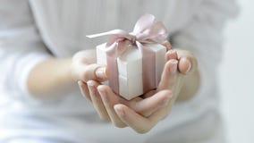Romantic gift box stock video footage
