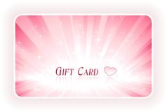 Romantic gift card Royalty Free Stock Photos