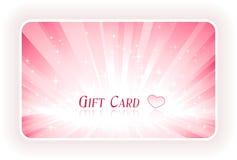 Romantic gift card Royalty Free Stock Photos
