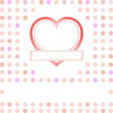 Romantic gift card with love heart Stock Image