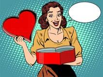 Romantic gift love heart female pleasure Royalty Free Stock Images