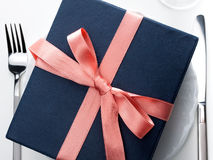 Romantic Gift On A Plate Royalty Free Stock Photography