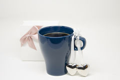 Romantic Gift. Special Present. Romantic Morning. Special Present with Love Stock Photos