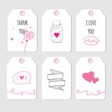 Romantic gift tags Stock Photography