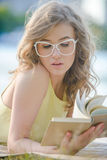Romantic girl with book Royalty Free Stock Images