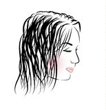 Romantic girl with long hair Royalty Free Stock Photo