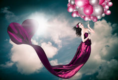 Romantic Girl In Love With Beauty And Fashion Royalty Free Stock Photo