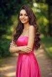 Romantic girl outdoor Stock Photos