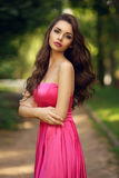 Romantic girl outdoor Royalty Free Stock Photography