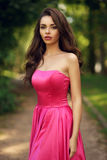 Romantic girl outdoor Royalty Free Stock Photo