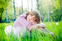 Romantic Girl Outdoors Stock Images