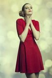 Romantic girl with relaxed expression Royalty Free Stock Image