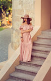 Romantic girl Stock Images