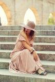 Romantic girl Stock Photos
