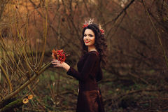 Romantic girl smiling Stock Photo