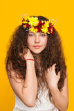 Romantic girl in wreath Royalty Free Stock Images