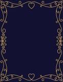 Romantic gold frame design Royalty Free Stock Photo