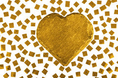 Romantic golden heart Royalty Free Stock Photo
