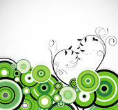 Romantic green rings. Floral background. Vector Royalty Free Stock Photos