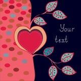 Romantic greeting card Royalty Free Stock Image
