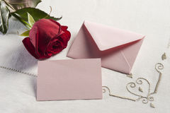 Romantic greeting card Stock Photos