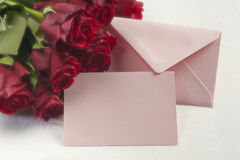 Romantic greeting card Stock Images