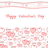 Romantic greeting card happy valentine's day Royalty Free Stock Images