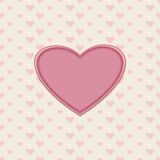 Romantic greeting card with heart Royalty Free Stock Image
