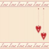 Romantic greeting card with hearts. Romantic greeting card with stylized hearts and place for text Royalty Free Illustration