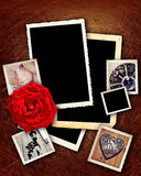 Romantic grunge borders Stock Photo