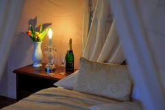 Romantic guest bedroom Royalty Free Stock Photography