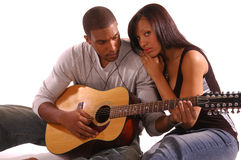 Romantic Guitar Serenade Royalty Free Stock Images