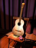Romantic guitar on stage Royalty Free Stock Images