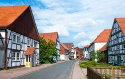 Romantic half-timbered old houses. Stock Images