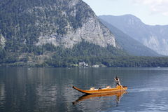 Romantic Hallstatt lake Stock Photography