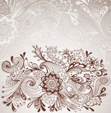 Romantic hand drawn floral background Royalty Free Stock Photos