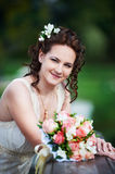 Romantic happy bride Stock Photo